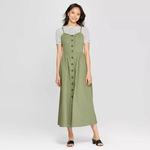 Women's Sleeveless V-Neck Button Down Maxi Dress
